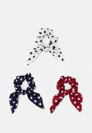 PCDOTTY SCRUNCHIE 3 PACK - Haaraccessoire - navy blazer/white/red