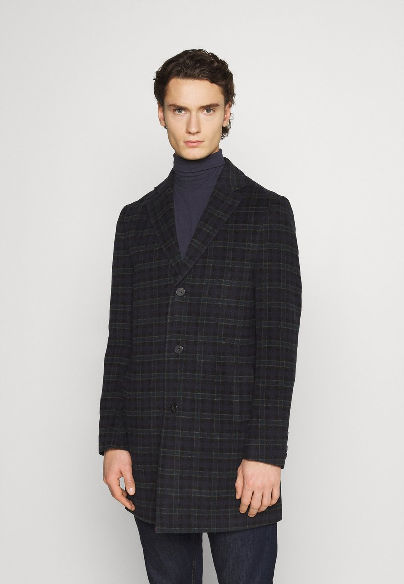 Isaac Dewhirst - CHECK OPTION - Classic coat - dark blue