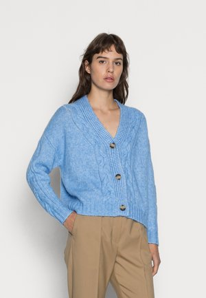 CARDIGAN CABLE WIDE - Cardigan - blue