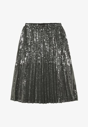 IVA SEQUIN PLEAT - Faltenrock - gunmetal