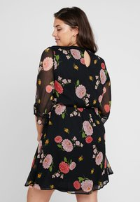 Simply Be - FLORAL SKATER DRESS - Day dress - black - 3