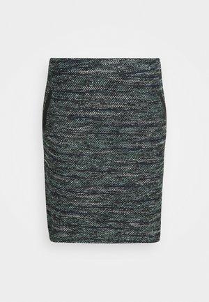 SKIRT BOUCLE - Mini skirt - mint / black / white / boucle