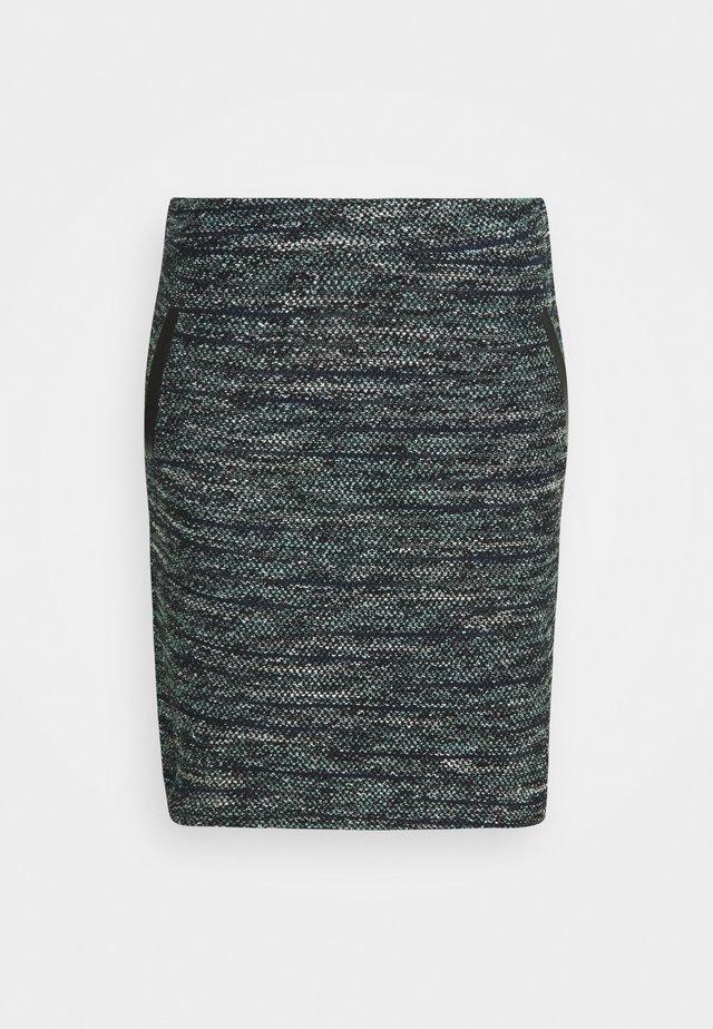 SKIRT BOUCLE - Spódnica mini - mint / black / white / boucle