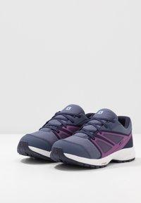 Salomon - SENSE CSWP - Hiking shoes - crown blue/evening blue/sparkling grape - 3