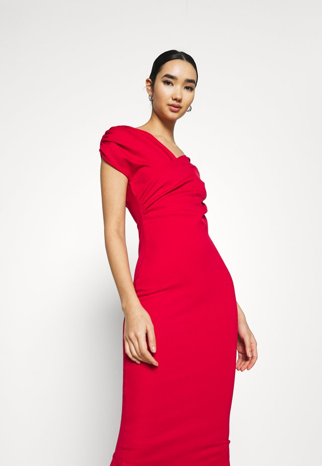 CLASSY SHOULDER DRESS - Trikoomekko - red