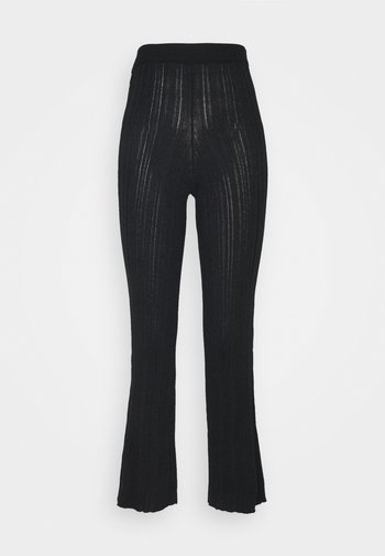 MOON TROUSERS - Trousers - black