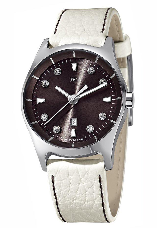 Horloge - weiß/braun