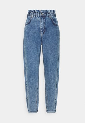 PAPERBAG MOM - Jeans relaxed fit - mid blue snow