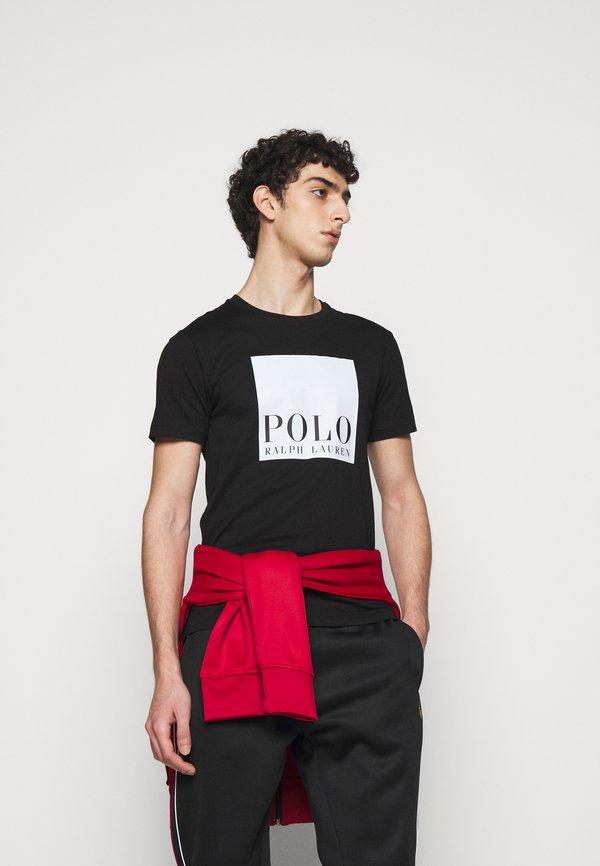 Polo Ralph Lauren LUX TRACK - Spodnie treningowe - black/czarny Odzież Męska TFPJ
