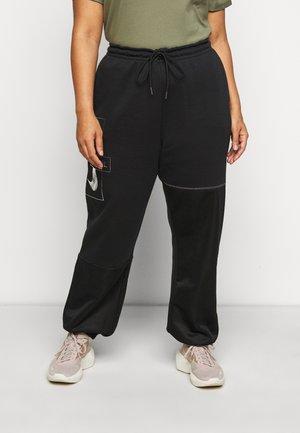 PANT - Teplákové kalhoty - black/metallic silver