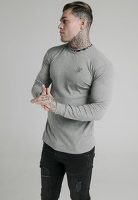 SIKSILK - RIB KNIT TEE - Long sleeved top - grey - 0