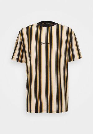 MULTI VERTICAL STRIPE - T-shirt med print - orange