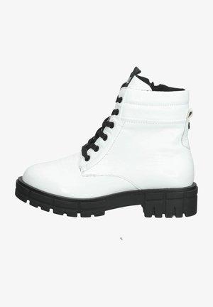 Platform ankle boots - white naplak