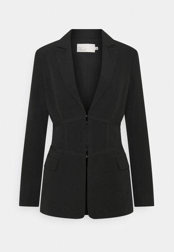 CORSET DETAILED - Krótki płaszcz - black
