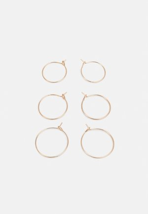 BASIC HOOP 3 PACK - Øreringe - gold-coloured