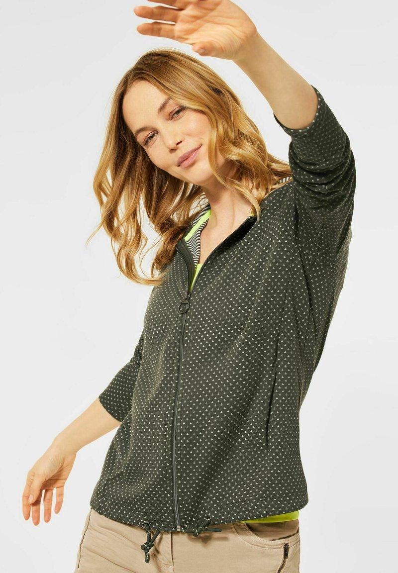 Cecil - Zip-up sweatshirt - olive