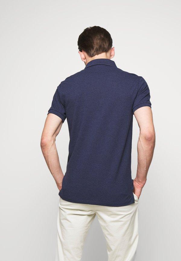 Polo Ralph Lauren SLIM FIT MODEL - Koszulka polo - spring navy heath/granatowy Odzież Męska LNZN