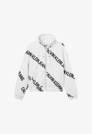 Fleece jacket - institutional logo aop white