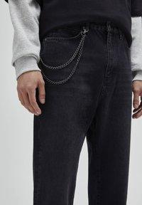 PULL&BEAR - Jeans a sigaretta - mottled dark grey - 3