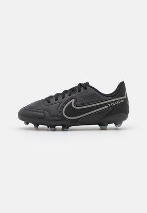 JR. TIEMPO LEGEND 9 CLUB FG/MG UNISEX - Moulded stud football boots - black/iron grey/metallic bomber gry