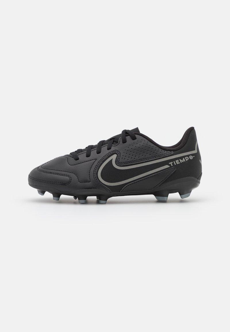 Nike Performance - JR. TIEMPO LEGEND 9 CLUB FG/MG UNISEX - Voetbalschoenen met kunststof noppen - black/iron grey/metallic bomber gry