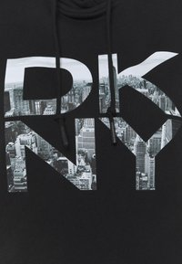 DKNY - STACKED CITY LOGO HOODED SNEAKER DRESS - Day dress - black - 2