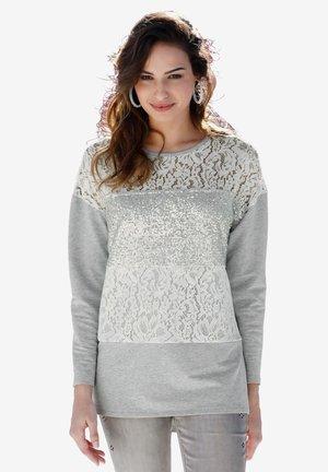 Sweatshirt - grau,off-white