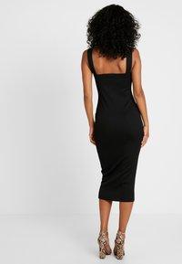 Missguided - SQUARE NECK DRESS - Etuikjoler - black - 3
