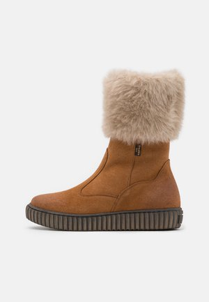 MYA TEX MEDIUM FIT - Botas - cognac