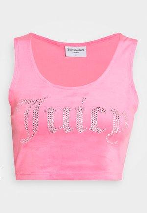 JADE CROP - Top - fluro pink