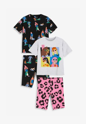 2 PACK - Pyjama set - black, white, pink