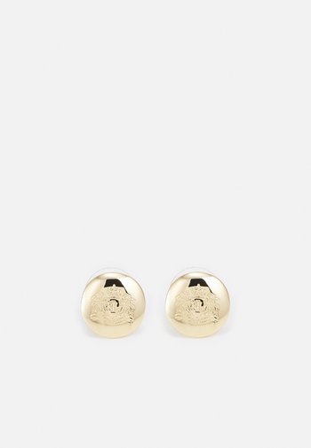 ENGRAVED CREST STUD - Earrings - gold-coloured