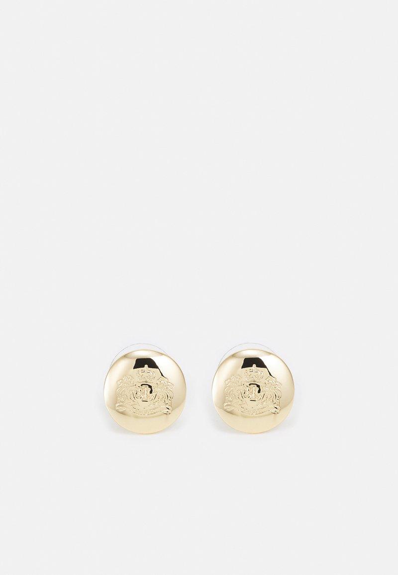 Lauren Ralph Lauren - ENGRAVED CREST STUD - Earrings - gold-coloured