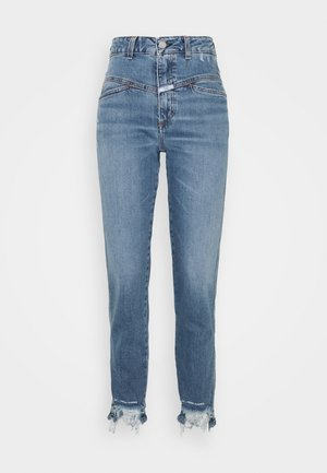 PEDAL PUSHER - Slim fit jeans - mid blue