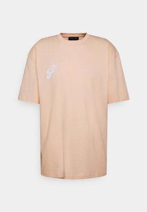 LARES TEE UNISEX - Print T-shirt - peach