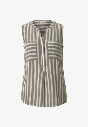 Blouse - offwhite green stripe