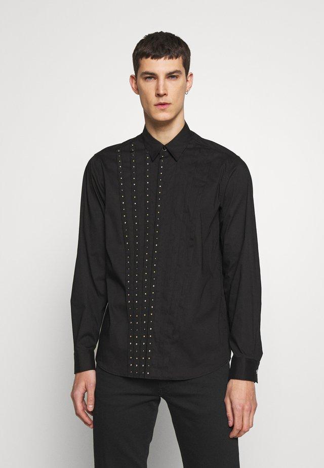 SHIRT STUD TAPING - Overhemd - black
