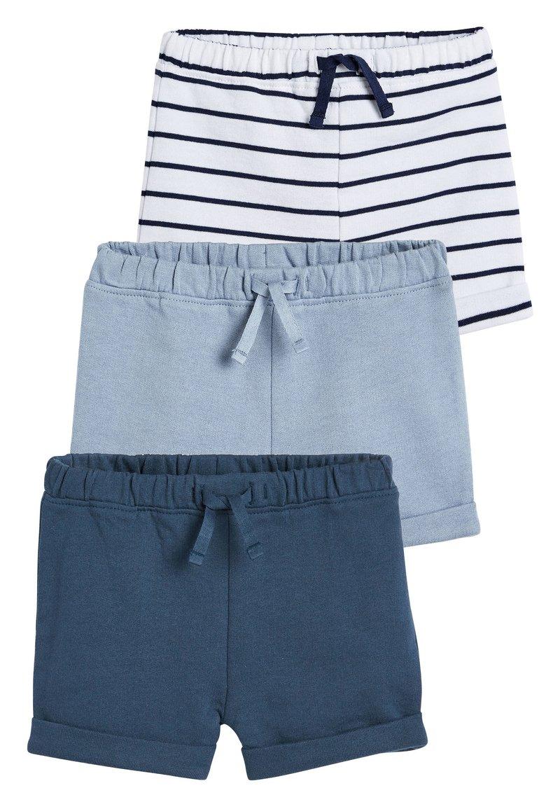 Next - BLUE SHORTS THREE PACK (0MTHS-2YRS) - Shorts - blue