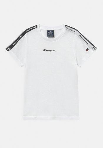 AMERICAN TAPE CREWNECK - Camiseta estampada - white