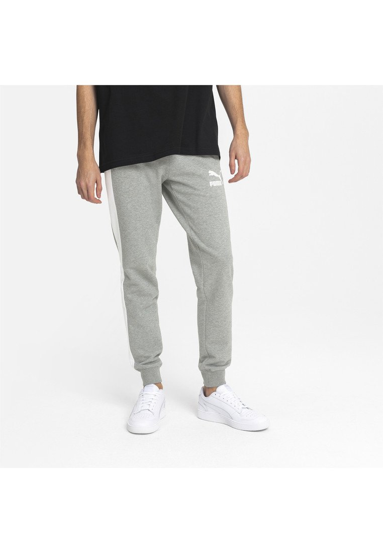 Puma - ICONIC  - Pantalon de survêtement - medium gray heather