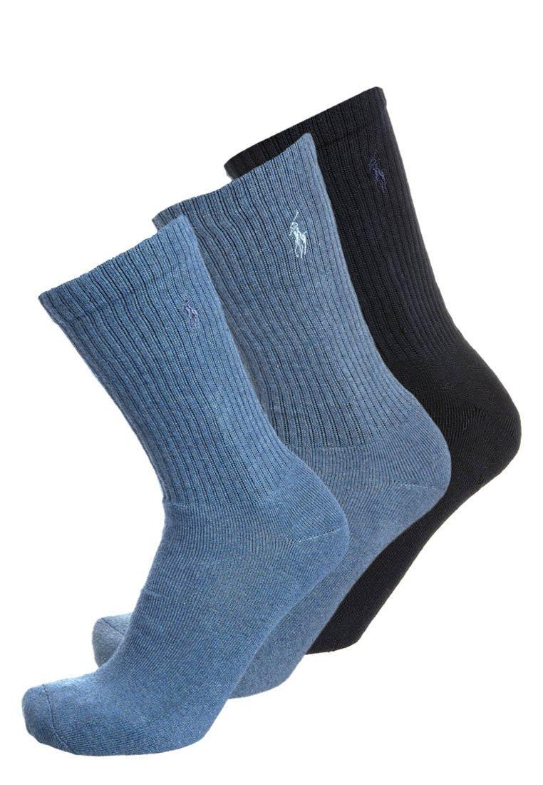 Polo Ralph Lauren - CREW 3 PACK - Socks - denim