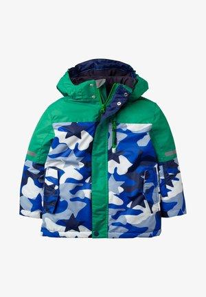Winter jacket - grün/blau, camouflage