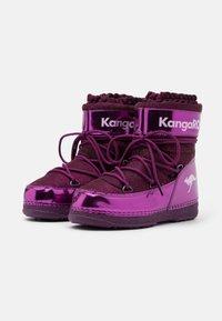 KangaROOS - K-MOON - Winter boots - dark berry/frost pink - 1