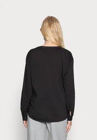 edc by Esprit - HENLEY BLOUSE - Blouse - black - 2