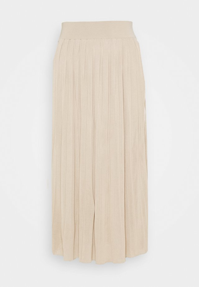 PEYTON SKIRT BLACK LABEL - Pleated skirt - warm khaki