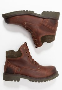 Wrangler - YUMA - Lace-up ankle boots - cognac/military - 1