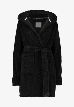 HOODED LUXE PLUSH GOWN - Badjas - black