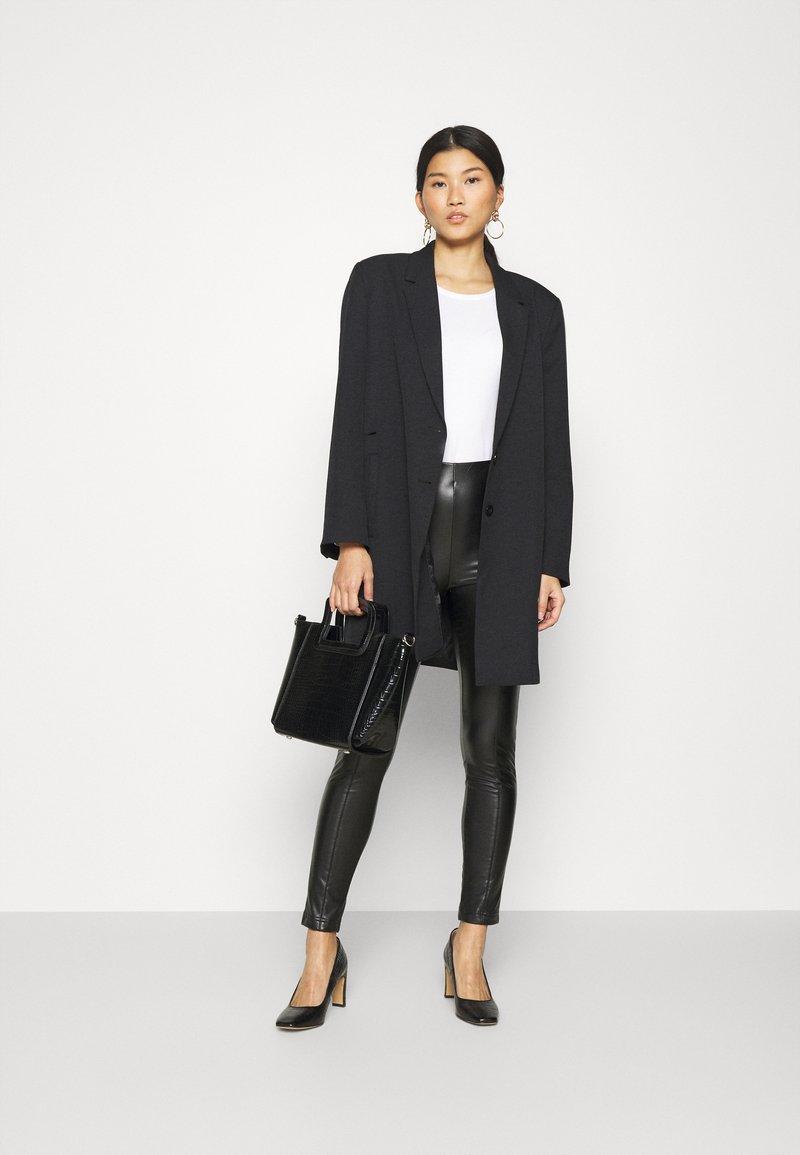 Anna Field - 3 PACK - Long sleeved top - black/white/mottled light grey