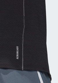 adidas Performance - SUPERNOVA PRIMEGREEN RUNNING SHORT SLEEVE TEE - Print T-shirt - black - 7