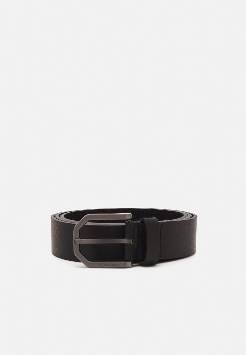 Calvin Klein - ESSENTIAL PLUS FACETED - Belt - black